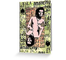Sid Vicious. The Jack Of Spades. Greeting Card