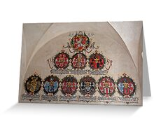 Coats of arms. Greeting Card