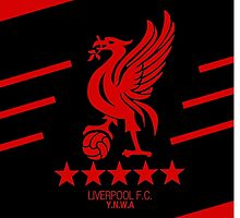 Liverpool Liver Bird Red Black by arisfebriyanto