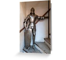 Knight armour. Greeting Card