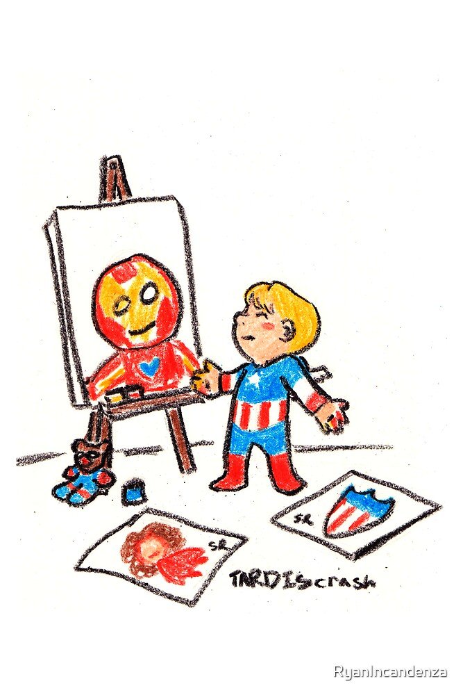 Tiny Steve Finger Painting by RyanIncandenza