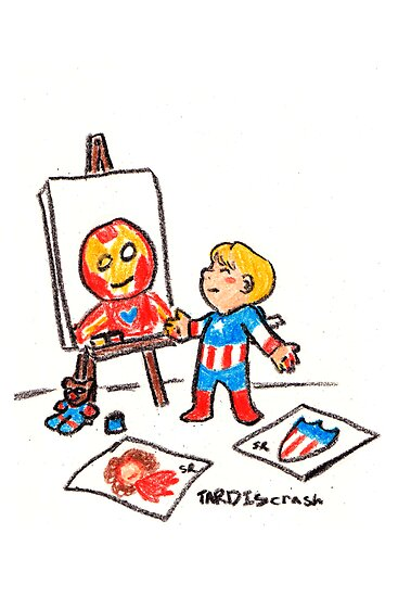 Tiny Steve Finger Painting by RyanIncandenza