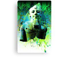 Egyptian display of green Canvas Print