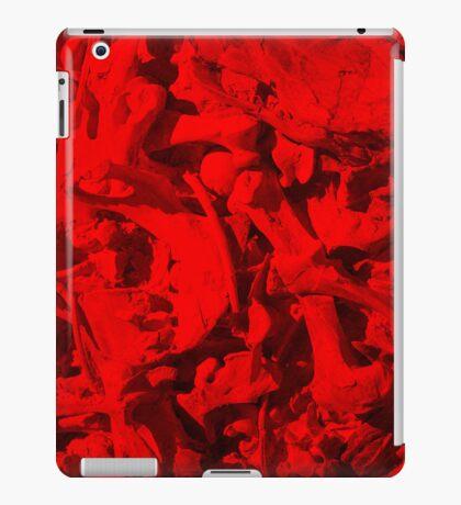 Bones with Skull on Top in Red iPad Case/Skin