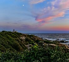 Beavertail Moon at Dusk - Jamestown Rhode Island by Jack McCabe