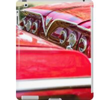Two Red Chevy Impalas with Lights iPad Case/Skin