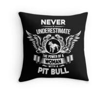 Pit Bull Mama Throw Pillow