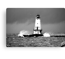 November Winds on Lake Michigan Canvas Print