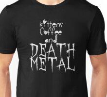 KITTENS COFFEE DEATH METAL Unisex T-Shirt