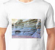 Sediment Layers in Beach Cliff Unisex T-Shirt