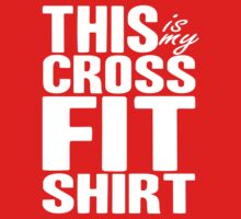 "CrossFit Themed - ""My CrossFit Tee"" White Ink Gym Fitness Workout Tee by Max Effort"