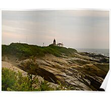 Beavertail Lighthouse and Bluffs, Jamestown Rhode Island Poster