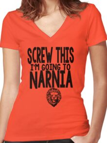 Narnia Quotes Women's Fitted V-Neck T-Shirt