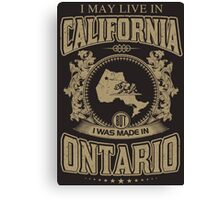 Remember Ontario Canvas Print