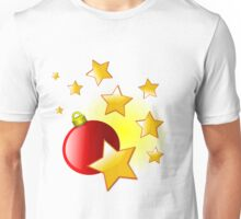 Red Christmas Decoration Ball and Stars Unisex T-Shirt