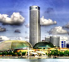 Singapore  Urban Landscape , Esplanade Theater  by William Yee Khai Teo