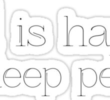Sad is Happy for deep people. Sticker
