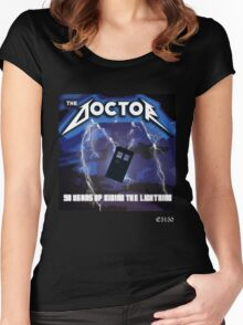 The Doctor is Metal Women's Fitted Scoop T-Shirt