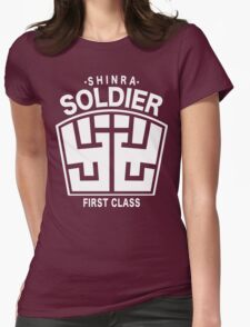 Final Fantasy VII - SOLDIER First Class Logo Womens Fitted T-Shirt