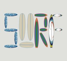 SURF LETTERS WITH SURF BOARDS by BelfastBoy