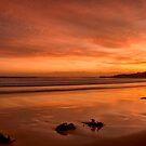 Crimson red sunrise by Chris Brunton