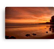 Crimson red sunrise Canvas Print