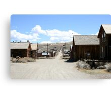 The Dusty Streets of a Ghost Town Canvas Print