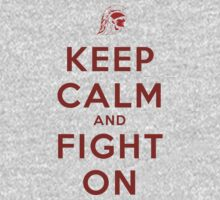 Keep Calm and Fight On (Cardinal) by ShopGirl91706