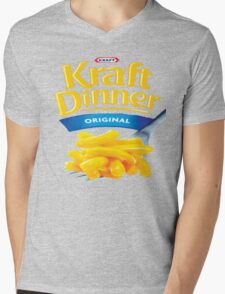 Kraft Dinner Mac 'n' Cheese T-Shirt Mens V-Neck T-Shirt