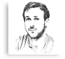 Ryan Gosling Sketch Canvas Print