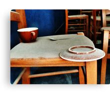 The Cup, Saucer and Spoon  Canvas Print