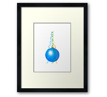 Blue Christmas Decoration Ball Framed Print