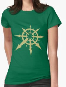 Chaos Symbol Womens Fitted T-Shirt