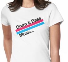 Drum & Bass F2 Womens Fitted T-Shirt