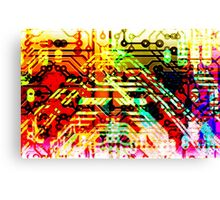 Color circuit Canvas Print