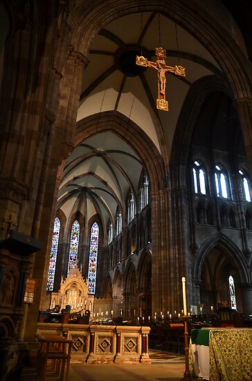 Inside St Mary's Cathedral, Edinburgh by Pete Johnston