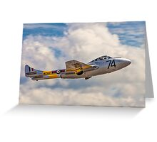 De Havilland Vampire T.11 WZ507 G-VTII Greeting Card