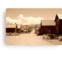 The Dusty Streets of a Ghost Town (Sepia) Canvas Print