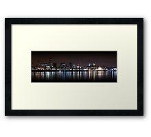 Liverpool Skyline Panoramic At Night Framed Print