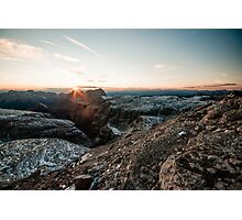 Sunset panorama from Piz Boe Photographic Print