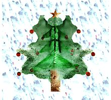 Christmas Tree Ink Design Photographic Print