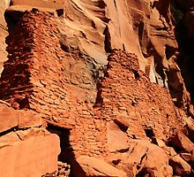 Ancient Anasazi Cliff Dwelling Ruins by Roupen  Baker