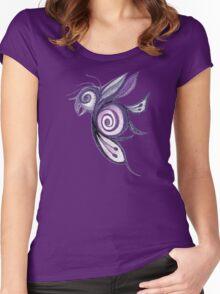 Birderfly - Purple Remix Women's Fitted Scoop T-Shirt