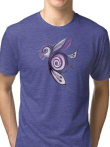 Birderfly - Purple Remix Tri-blend T-Shirt