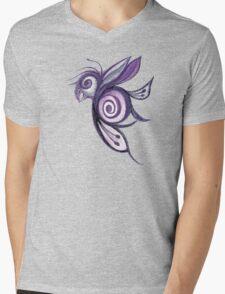 Birderfly - Purple Remix Mens V-Neck T-Shirt