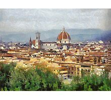 Florence from above, Italy Photographic Print