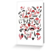 Magical Mushrooms & Acorns Greeting Card