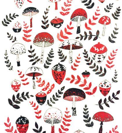 Magical Mushrooms & Acorns Sticker