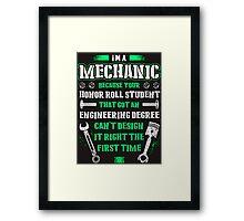 mechanic  Framed Print