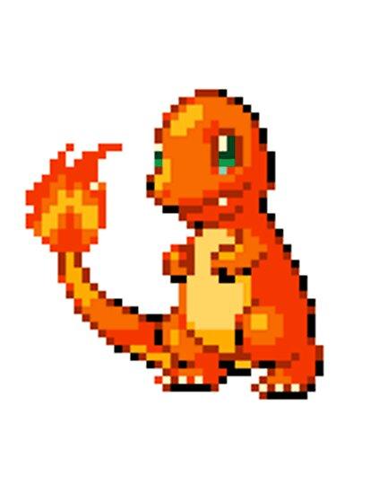 Pokemon - Charmander Sprite by ffiorentini